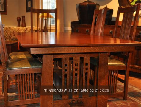 Craftsman Style Dining Room Table | stickley mission craftsman dining room wichita by