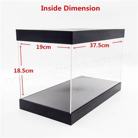 Box Acrylic Plastic 8x4x5 5 Cm uk big acrylic display box 37 5cm perspex plastic