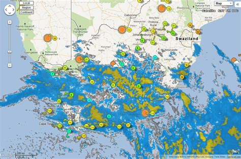 southern africa pws personal weather stations map thu