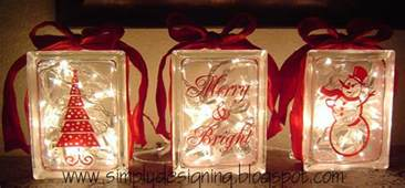 christmas glass blocks diy christmas