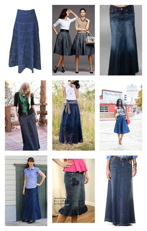 how to wear denim skirts