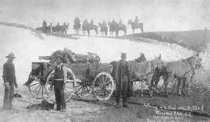 Gathering up the dead at the battle of wounded knee s d 1890