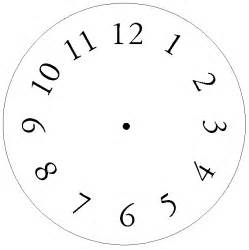 clockface template what we did in clock craft