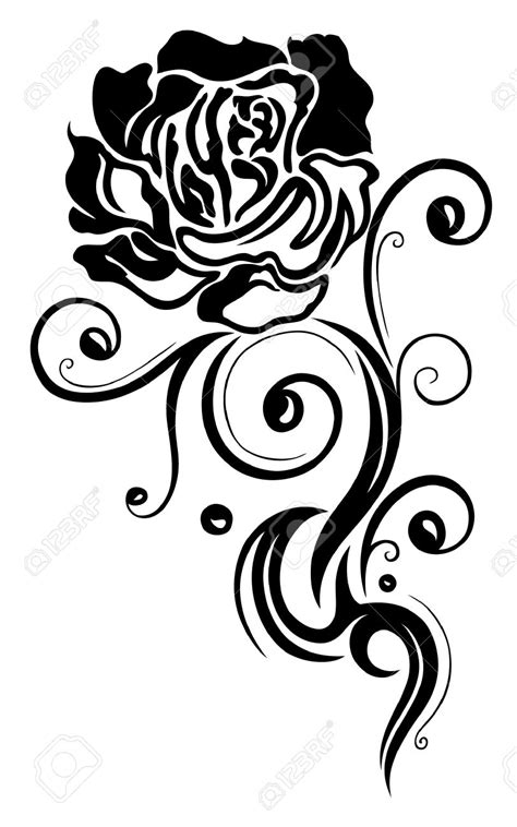 tribal black rose tattoo 8 beautiful black designs and ideas