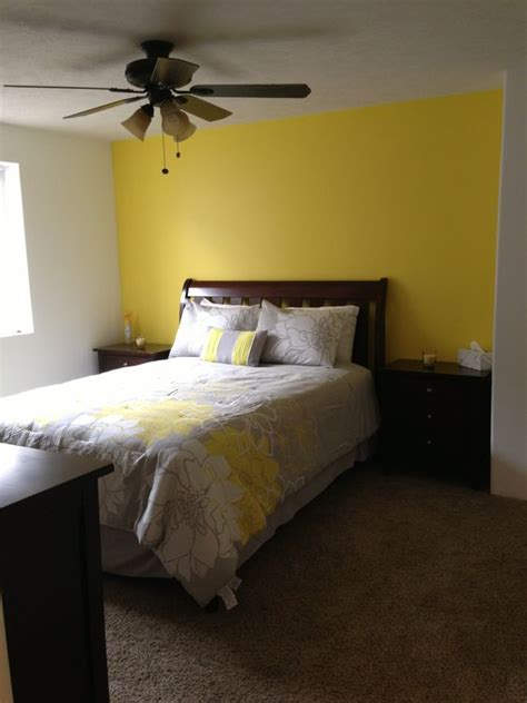 yellow bedroom walls basement bedroom love our yellow accent wall home