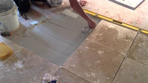 Installing Floor Tile How To Install Travertine Floor Tile Presented By Asap Plumbing And Tile Installers 904 346 1266