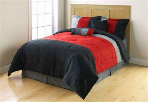 red black and grey bedding twin red grey black microsuede stripe comforter bedding