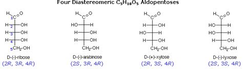 r s configuration carbohydrates stereoisomers