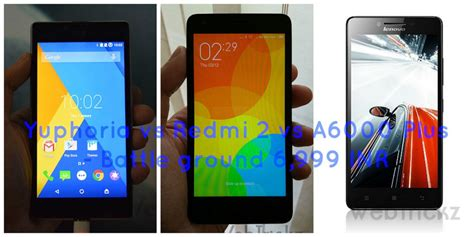 Lenovo A6000 Plus Vs Xiaomi Redmi 2 yu yuphoria vs xiaomi redmi 2 vs lenovo a6000 plus