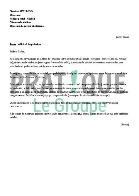 Exemple De Lettre De Motivation En Espagnol lettre de motivation pour un stage en espagnol pratique fr
