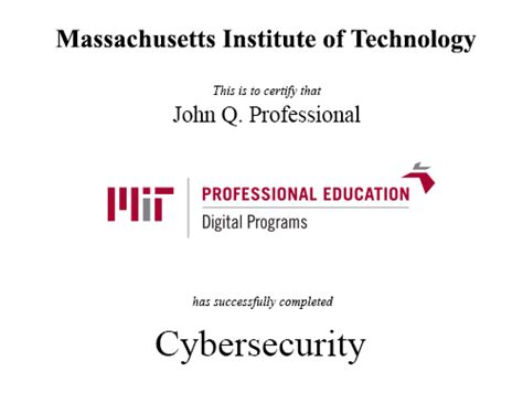 Institute Of Technology Mba Curriculum by Cybersecurity Technology Application And Policy Mit
