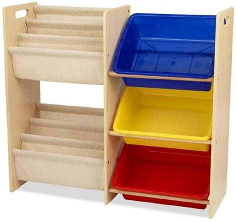 buy kidkraft wooden sling bookcase with primary bins