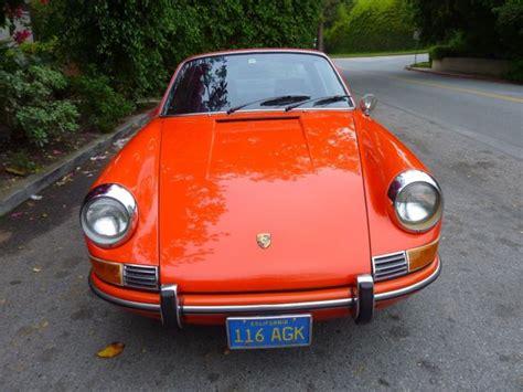 orange porsche targa 1969 porsche 912 targa tangerine orange fuchs wheels