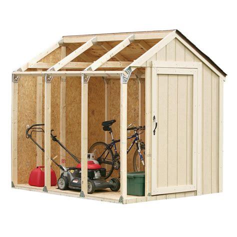 basics shed kit  peak roof   home depot