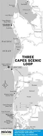 oceanside oregon map three capes scenic loop cape meares state scenic