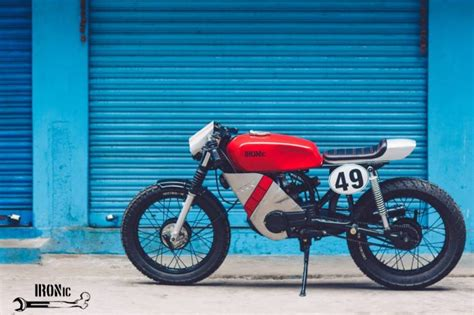 Modified Bikes Hyderabad by Yamaha Rx100 Cafe Racer Modified In Hyderabad Modifiedx