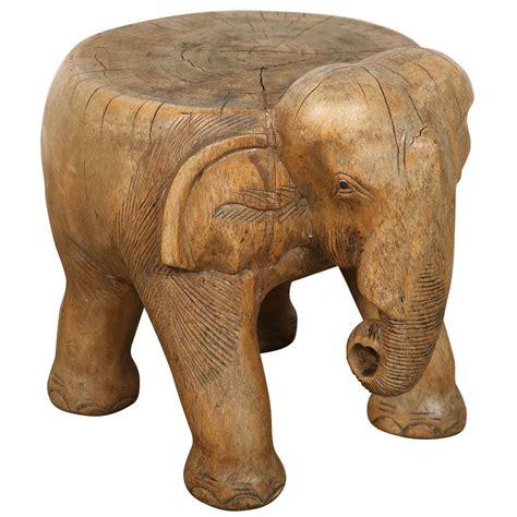 Elephant Stools by Elephant Stool Carved Wood At 1stdibs
