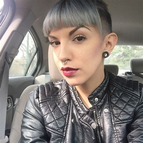 womens hair shaved just above ears 356 best images about small stretched ears on pinterest