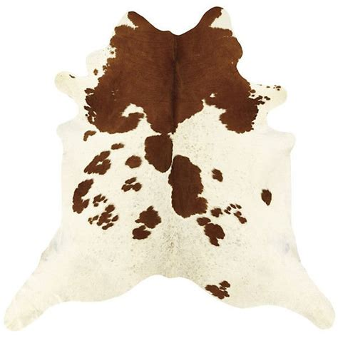 brown and white cow print rug ballard designs cowhide rug white and brown 35 235 php liked on polyvore featuring