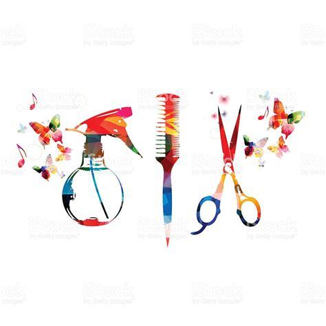 fond avec des outils de coiffure peigne color 233 et ciseaux
