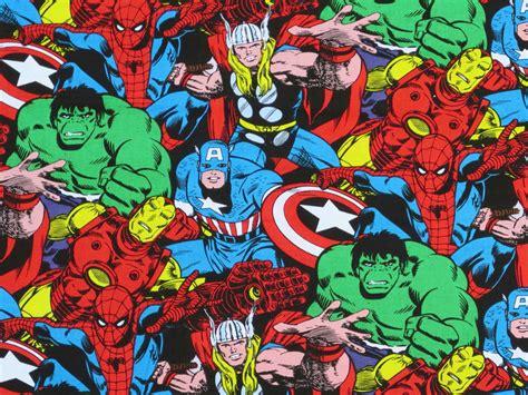 imagenes retro super heroes novelty marvel retro comic superhero fabric pack super