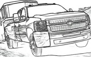 chevy truck coloring pages cooloring