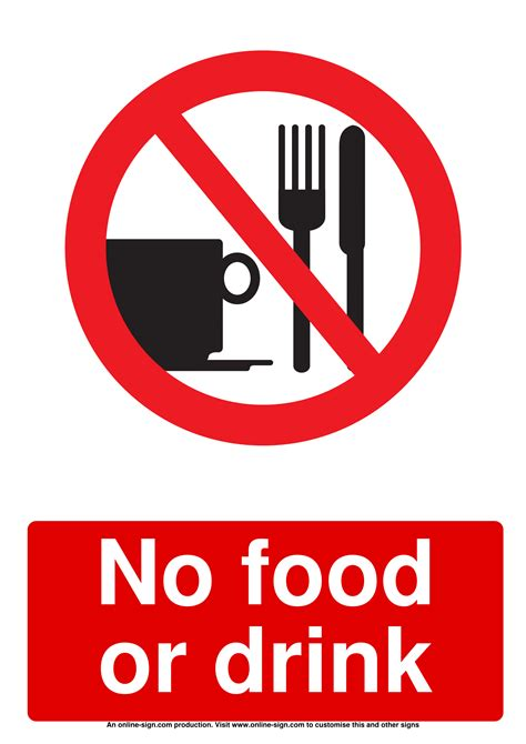 food  drink signs poster template