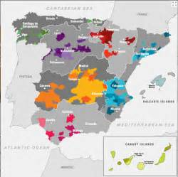 Spain Wine Map by Spanish Wine Regions Images