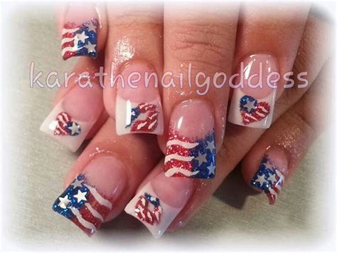 red acrylic 4th of july nils patriotic nails acrylic fourth of july nailed it