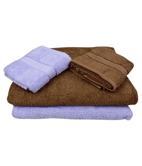 fancy bathroom towels the fancy mart multicolour cotton bath towel set of 4
