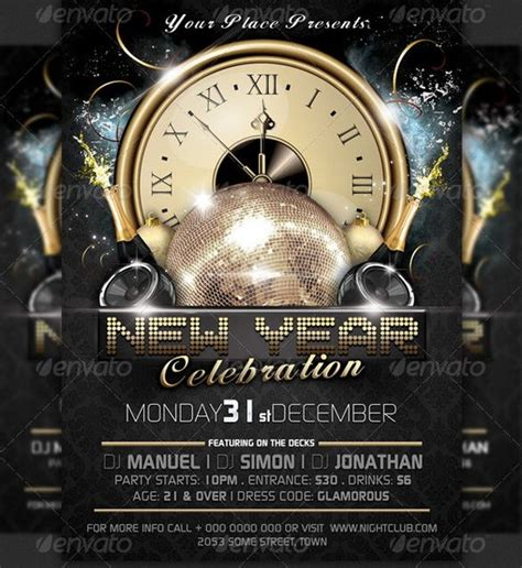 superstore new year flyer awesome 2013 new year event flyer templates ginva