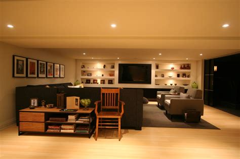 Contemporary Home Designs And Floor Plans by Interior Design Contemporary Basement Burlington