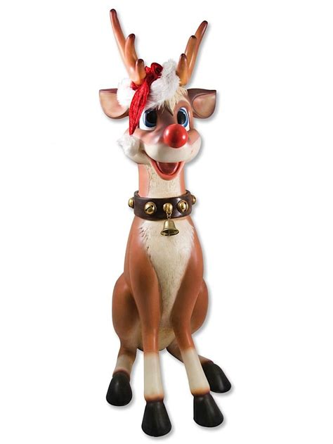cute sitting resin reindeer decor 1 1m large decor