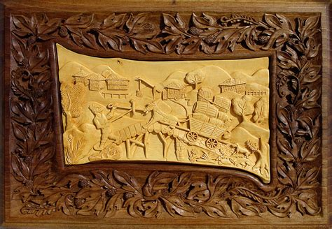 wall wood carving wall decor rustic cabin by mariyaarts