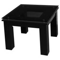 plateau te contemporary end table in black on black end