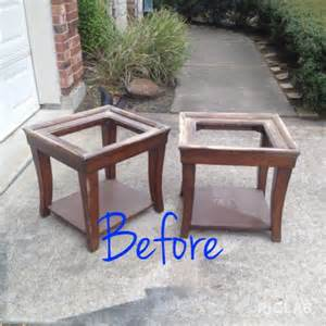 Hometalk end tables amp coffee table makeover