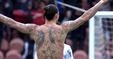 ibrahimovic tattoo vs caen zlatan ibrahimovic tattoos are for 805 million starving