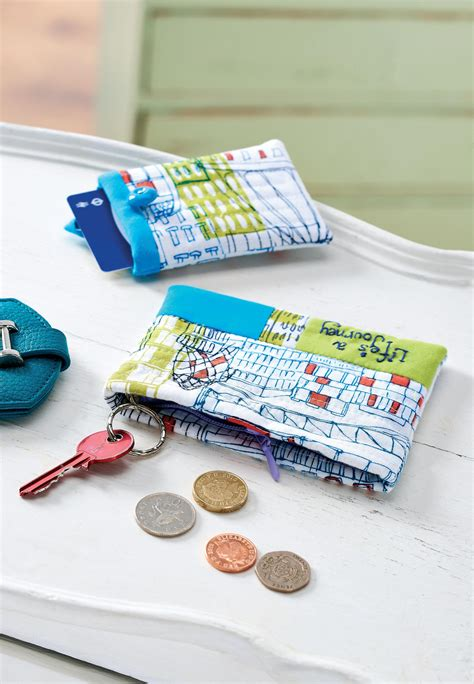 sewing pattern magazine holder journey themed zip purse and card holder free sewing