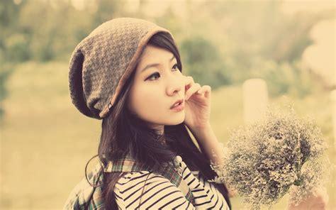 wallpaper girl in cap beautiful asian wallpaper 22820 1920x1200 px