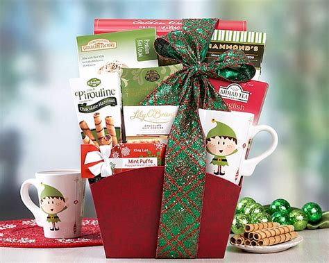 holiday cocoa and tea gift basket by gift baskets etc