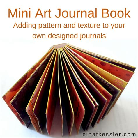the art book mini mini art journal book einat kessler