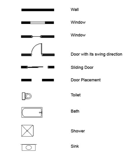 symbol for window in floor plan create a 3d floor plan model from an architectural