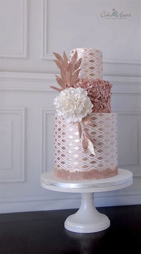 new year pink cakes gorgeous incredibly detailed three tiered wedding cake