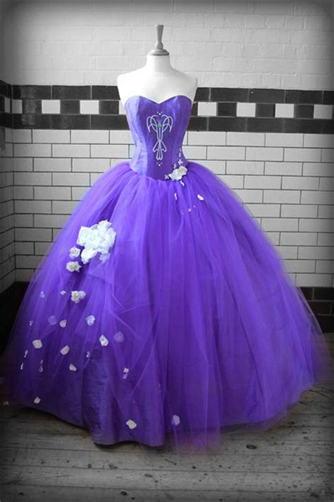 Purple Wedding Dress by The Wedding Inspirations Stylish Purple Wedding Dress
