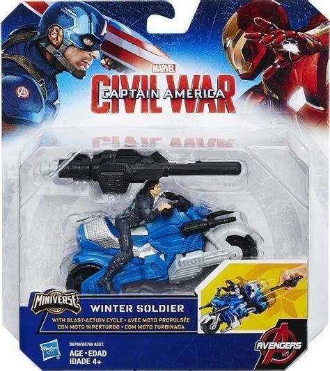 Hasbro Captain America With Blast Cycle Kapten Amerika 1 hasbro captain america winter soldier with blast
