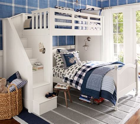 pottery barn loft bed with catalina stair loft bed pottery barn kids