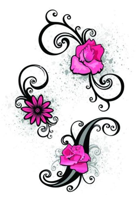small scroll tattoos scroll small designs for flower tattoos on