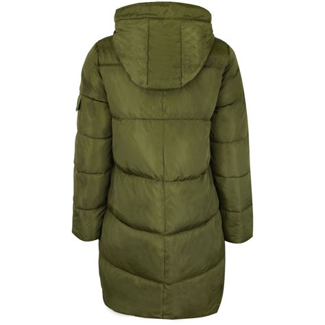 Padded Coat womens quilted winter coat padded puffer fur