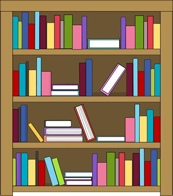 bookshelf cliparts