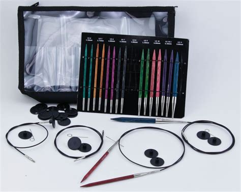 interchangeable knitting needle sets dreamz interchangeable deluxe knitting needle set by